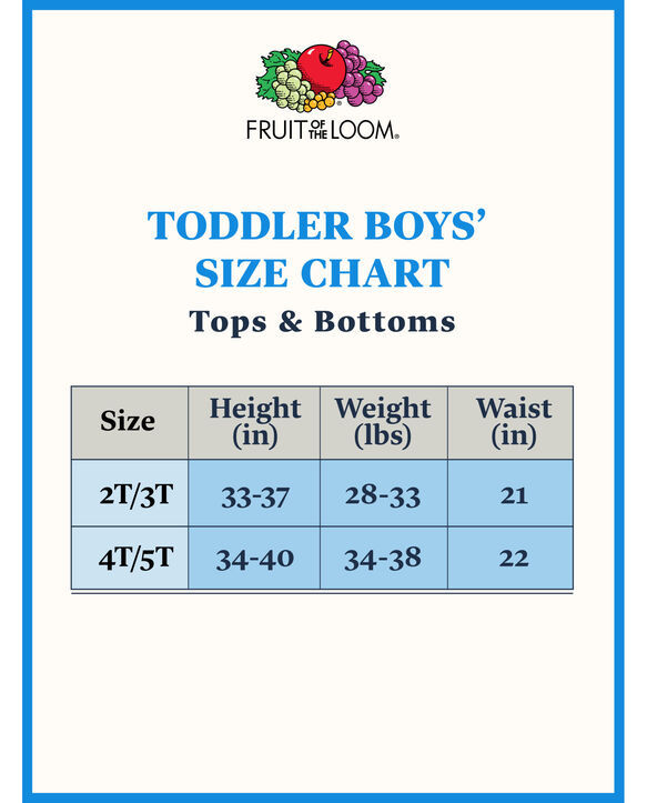 Toddler Boys' Training Pants, 6 pack ASSORTED