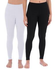 Women's Thermal Bottom, 2 Pack Black/White