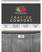 Men's Crafted Comfort Fabric Covered Waistband Assorted Boxer Briefs, 3 Pack, Extended Sizes Assorted Color