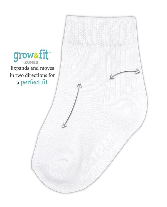 Baby Grow & Fit Socks, 14 Pack White