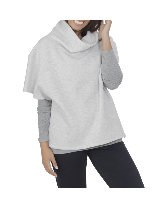 Women's Essentials Over the Top Cowl Neck Pullover