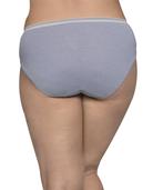 Women's Plus Assorted Heather Cotton Hi-Cut Panty, 8 Pack