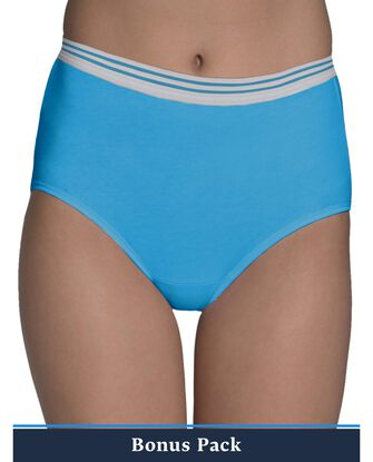 Women's Assorted Heather Brief Panty, 9 Pack