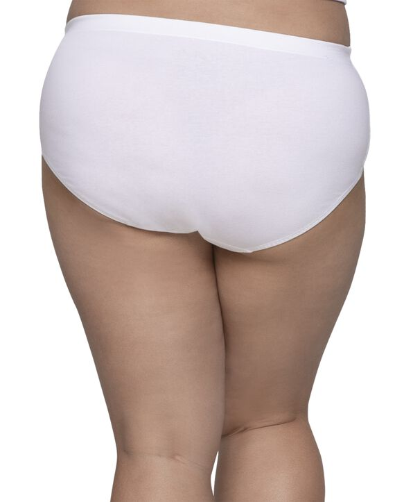 Women's Plus Size Fit for Me® by Fruit of the Loom® Flexible Fit Brief Panty, 6 Pack Assorted