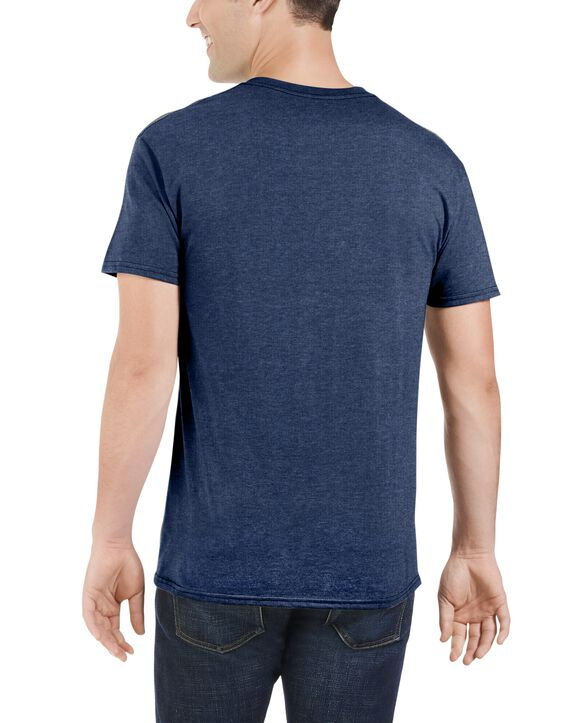 Big Men's Dual Defense UPF Short Sleeve Pocket T-Shirt, 1 Pack Indigo Ink Heather