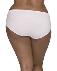 Women's Plus Fit for Me Breathable Cotton-Mesh Brief Panty, 6 Pack ASSORTED