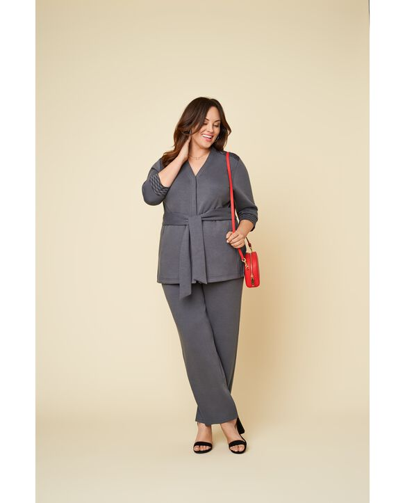 Women's Seek No Further Plus Size Trouser Dress Pants Charcoal