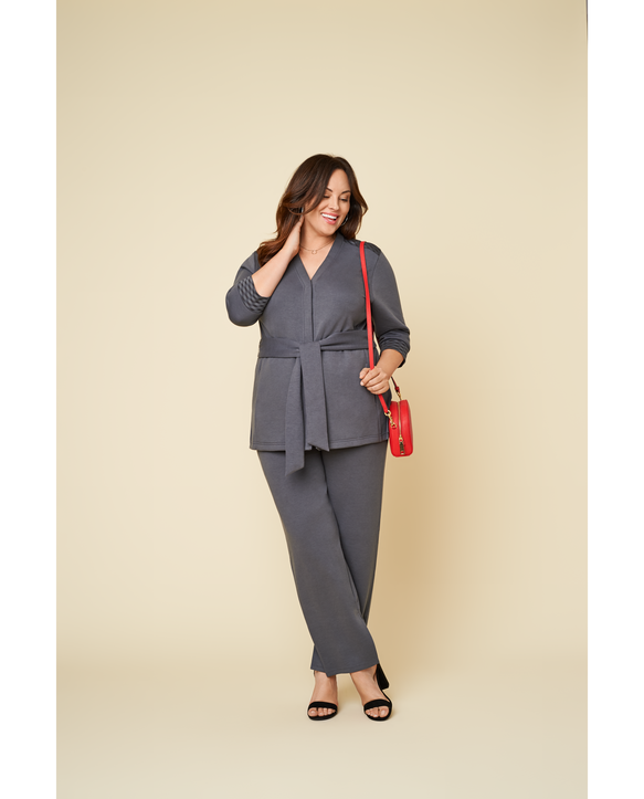 Women's Seek No Further Plus Size Trouser Dress Pants Charcoal