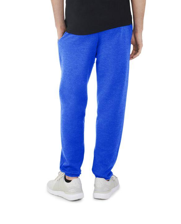 Men's EverSoft Fleece Elastic Bottom Sweatpants, Extended Sizes, 1 Pack Blue Glass Heather
