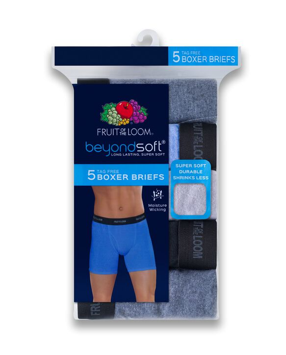 Men's Beyondsoft Boxer Briefs, 5 Pack Assorted