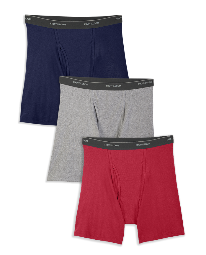 Men's 3 Pack Assorted Colors Boxer Brief