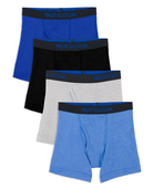Toddler Boys' Breathable Boxer Briefs, 4 Pack Assorted