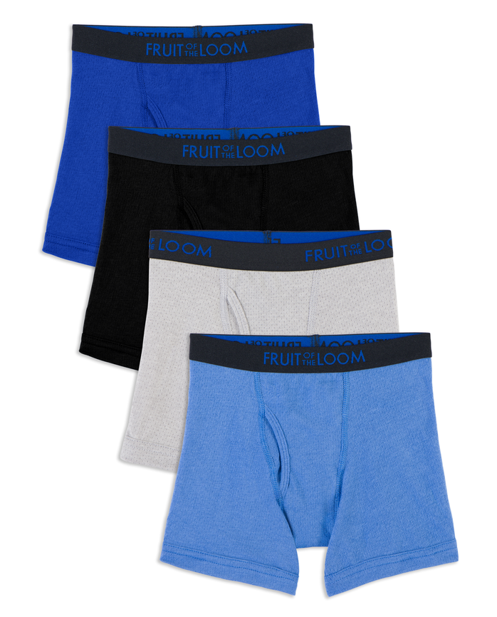 Toddler Boys' Breathable Boxer Briefs, 4 Pack