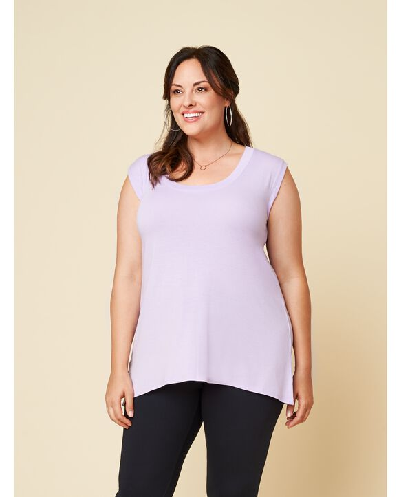 Women's Seek No Further Plus Size Scoop Neck Tank Top Lilac Petal