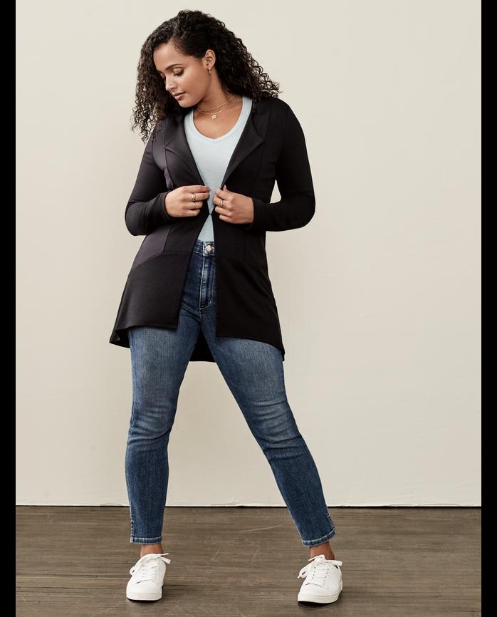 Women's Seek No Further® Cardigan, 1 Pack Brilliant Black