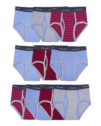 Boys' Assorted Fashion Briefs, 10 Pack