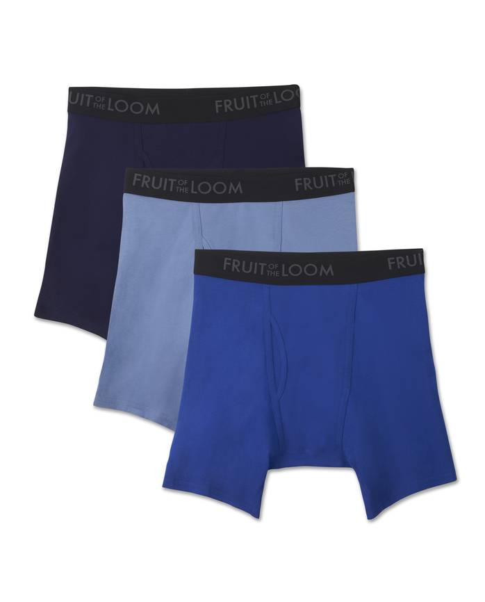 Men's 3 Pack Breathable Assorted Color Boxer Brief Assorted