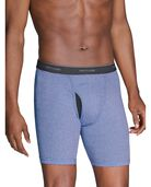 Men's EverSoft CoolZone Fly Stripe and Solid Boxer Briefs, 6 Pack ASSORTED