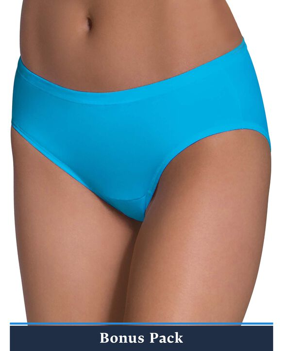 Women's Assorted Comfort Covered Cotton Hipster Panty,9 Pack