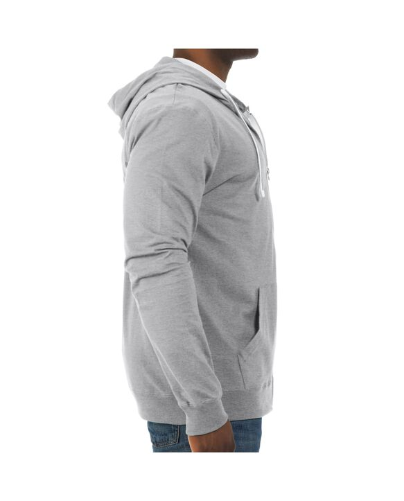 Big Men's Soft Jersey Full Zip Hooded Jacket, 1 Pack Athletic Heather