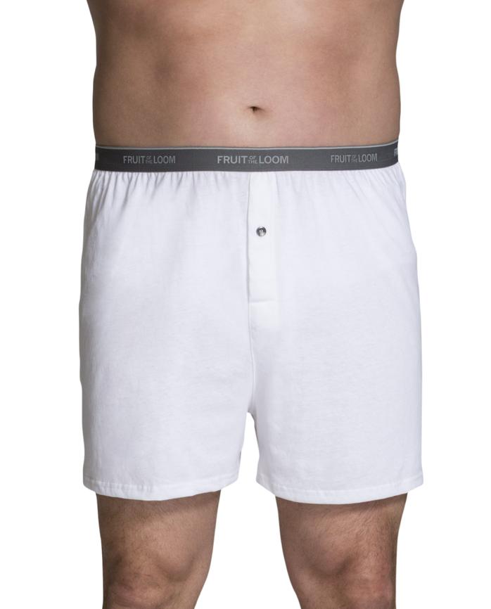 Men's Big Man Cotton Knit Boxers, 3 Pack