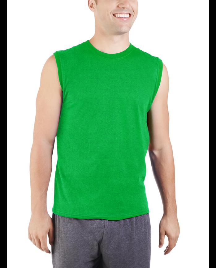 Men's Dual Defense UPF Sleeveless Muscle Shirt Artifical Turf