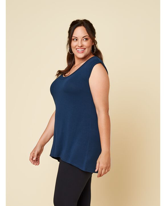 Women's Seek No Further Plus Size Scoop Neck Tank Top Navy Nights