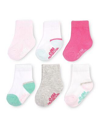 Baby Grow & Fit Socks, 6 Pack