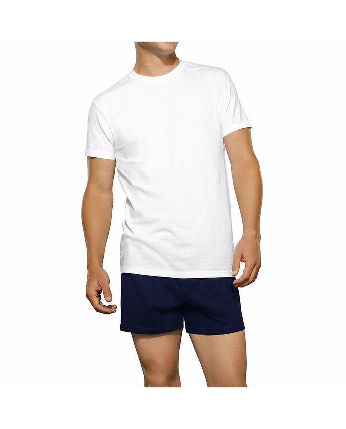 Men's White Crew Neck T-Shirts 6+1 Bonus Pack