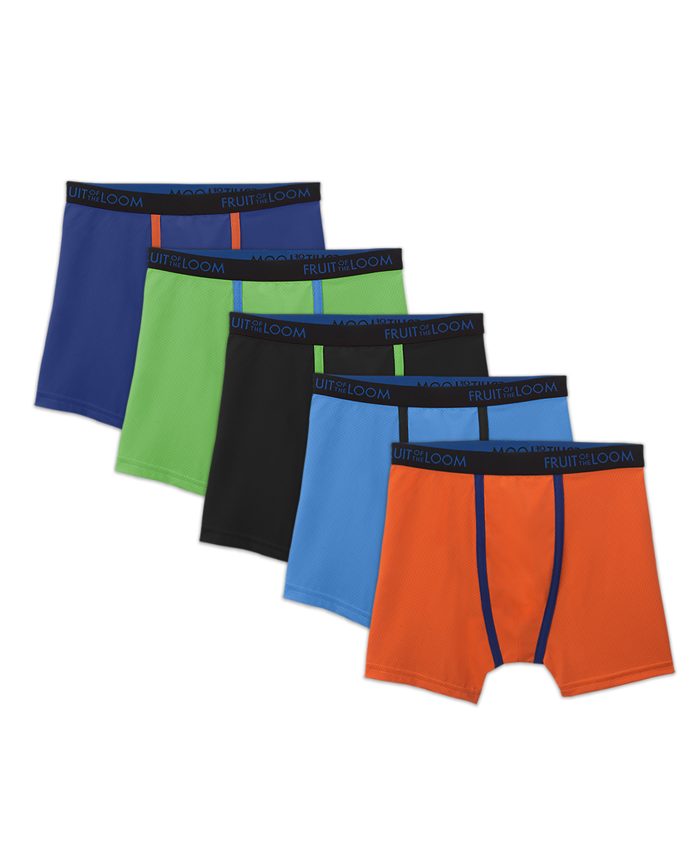 Boys Breathable Micro Mesh Boxer Brief 5 Pack Fruit Us