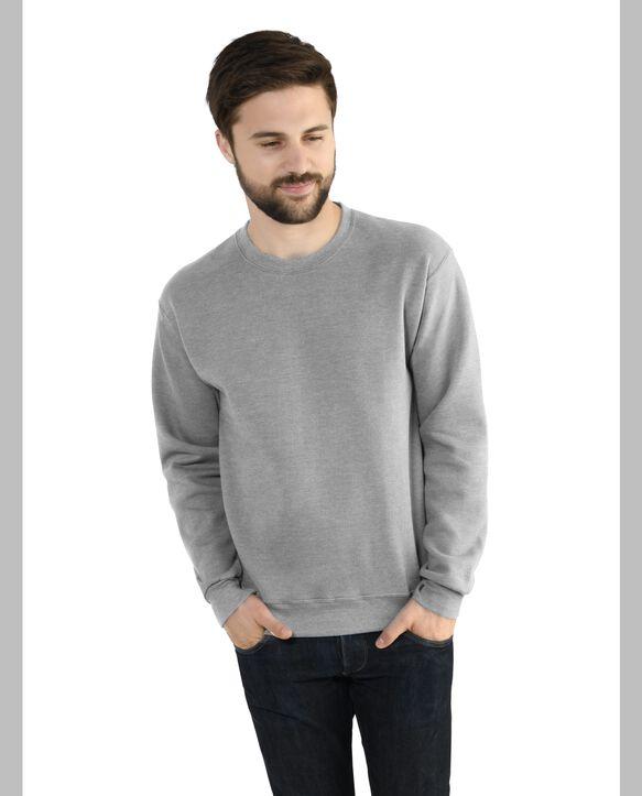 Men's EverSoft Fleece Crew Sweatshirt, 1 Pack Medium Grey Heather