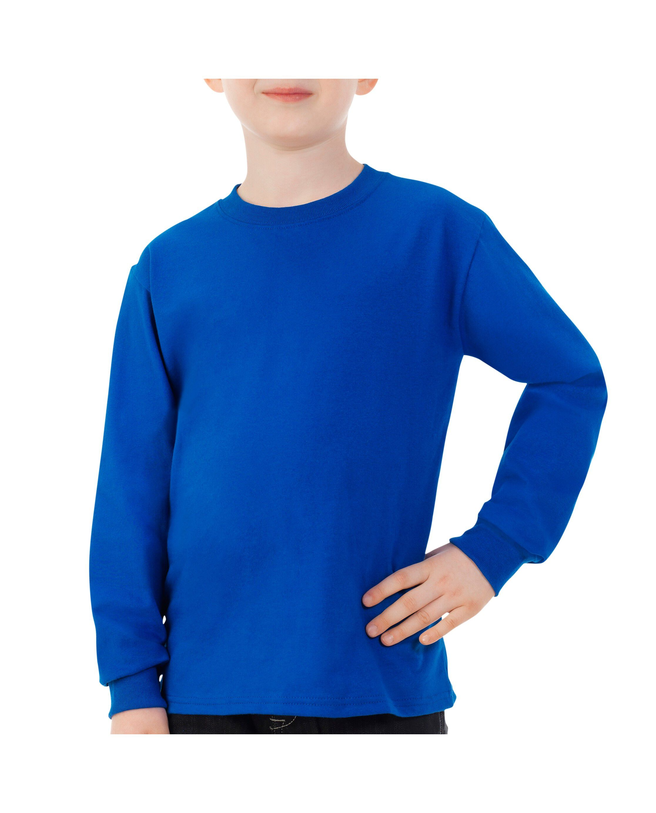 Fruit of the Loom Childrens//Kids Long Sleeve T-Shirt Pack of 2