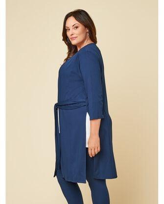 Women's Seek No Further Plus Size Ponte Open Front Long Cardigan