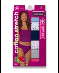 Women's Cotton Stretch Hi-Cut, 6 Pack Assorted