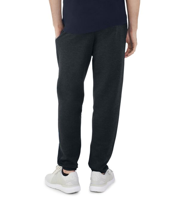 Men's EverSoft Fleece Elastic Bottom Sweatpants, Extended Sizes, 1 Pack Black Heather
