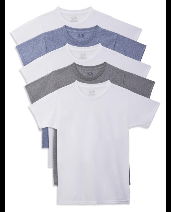 Boys' Beyond Soft Crew Neck T-Shirts, 5 Pack