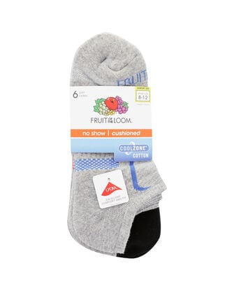 Women's CoolZone Cotton Cushioned No Show Socks 6 Pair