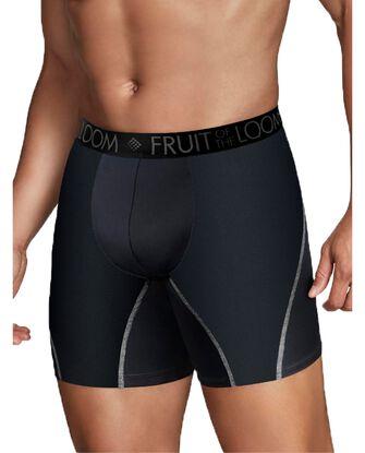 Men's Breathable Performance Black Boxer Briefs, 3 Pack