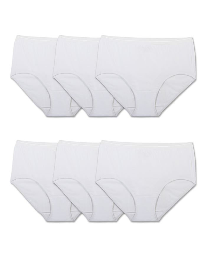 Women's Cotton White Brief, 6 Pack