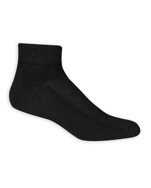 Men's Breathable Cotton Ankle Socks,  6 Pack, Size 6-12 BLACK
