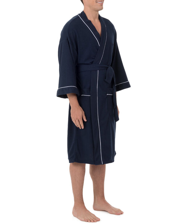 Men's Soft Touch Waffle Robe, 1 Pack, Size 2XL NAVY
