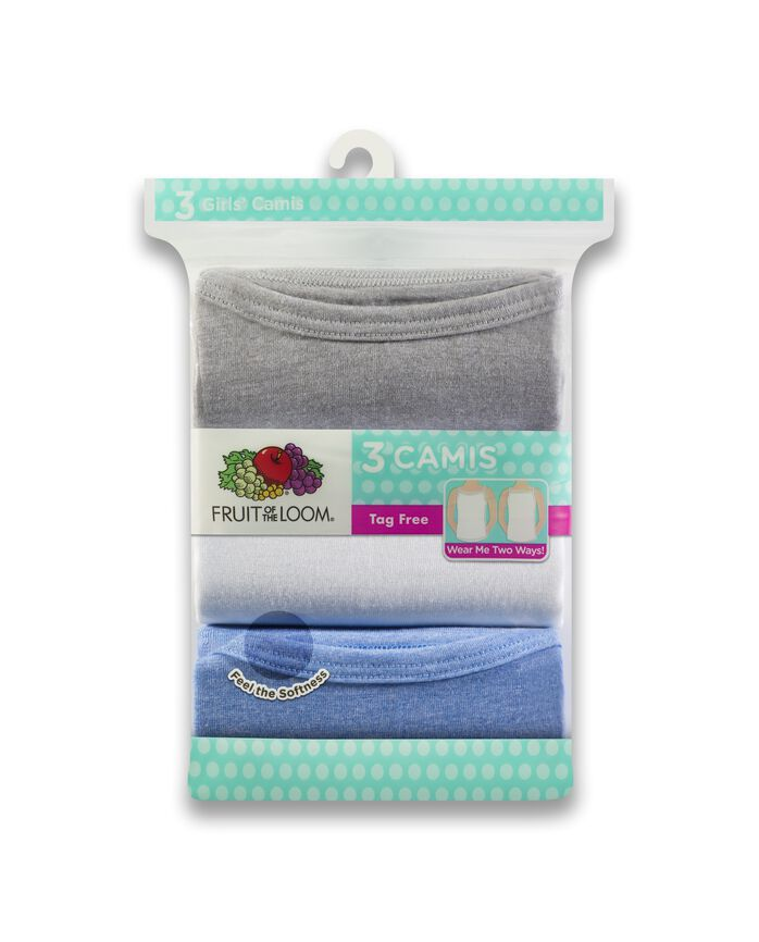 Girls' Assorted Cami, 3 Pack