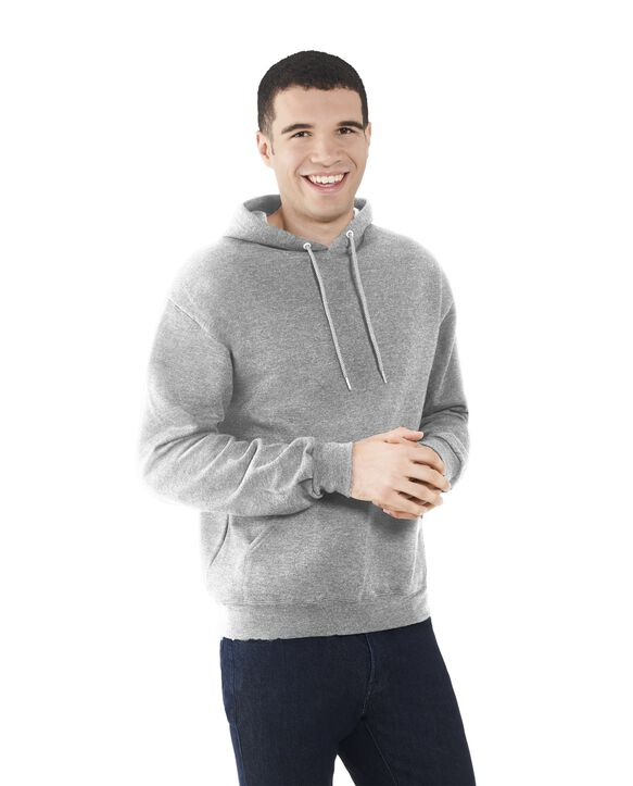 Men's EverSoft Fleece Pullover Hoodie Sweatshirt, 1 Pack Medium Grey Heather