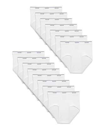 Fruit of the Loom® Men's Cotton White Briefs, 15 Pack