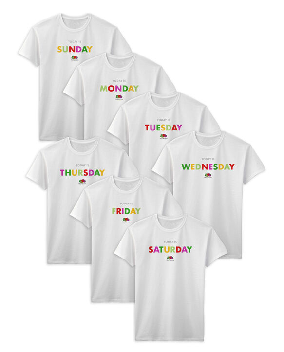Fruit of the Loom Days of the Week T-Shirts