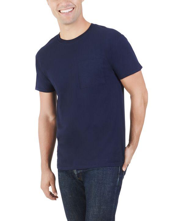 Men's Dual Defense UPF Short Sleeve Pocket T-Shirt, 1 Pack J Navy