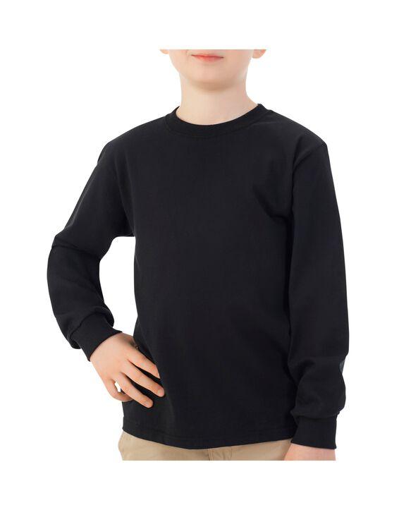 Boys'Long Sleeve T-Shirt, 1 Pack Black