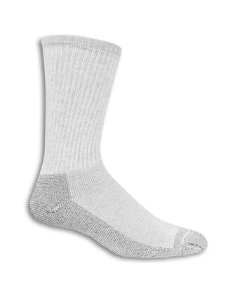 Men's Work Gear Crew Socks,  10 Pack, Size 6-12