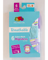Girls' 6 Pack Breathable Hipster Assorted