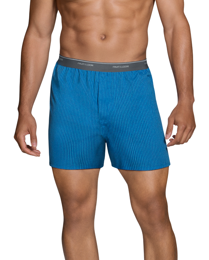 Men's Dual Defense Exposed Waistband ven Boxers, 5 Pack Assorted
